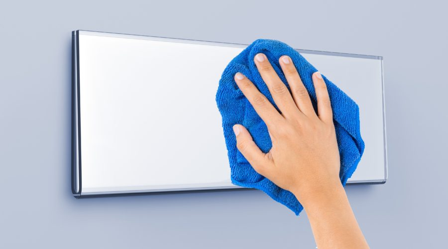How to Clean and Maintain Signage